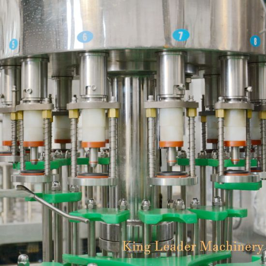 1800bph Glass Bottle Juice Filling Capping Bottling Machine