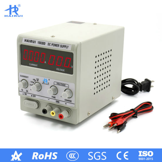 HAIRUI Adjustable Precision 15V 3A LED Digital Display Switching DC Power Supply pictures & photos