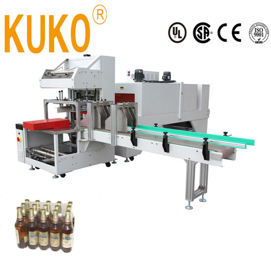 Factory Price Fully Automatic Drink Beer Water Mineral Bottles Cans Heat Heating Thermal Packing Packaging Pack Shrink Shrinkable Wrapping Wrapper Wrap Machine