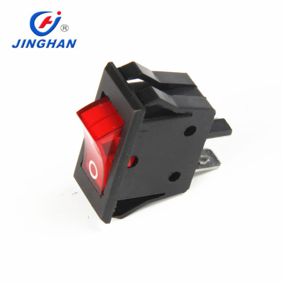 Hot Selling Kcd3-603 16A 250V Rocker Switch T85 12V Illuminated Rocker Switch with Red Light