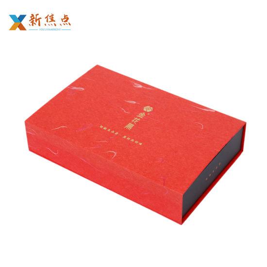 Wholesale Printing Logo Custom Book Shape Flip Tea Gift Box