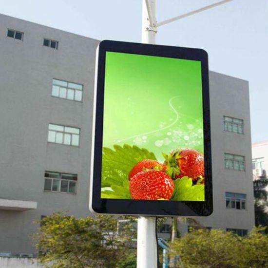 HD Full Color Street Lamp Post LED Display Screen for Road Advertising