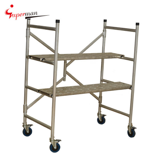 Standing Height Double Width Aluminum Scaffold Tower pictures & photos