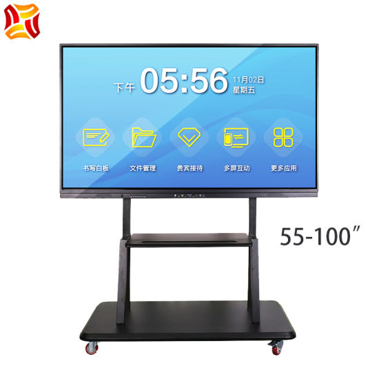 """55-100"""" Inch All in One Touch Screen Smart Electronic Board Interactive Whiteboard LCD Display Flat Panel for Conference Classroom Education"""
