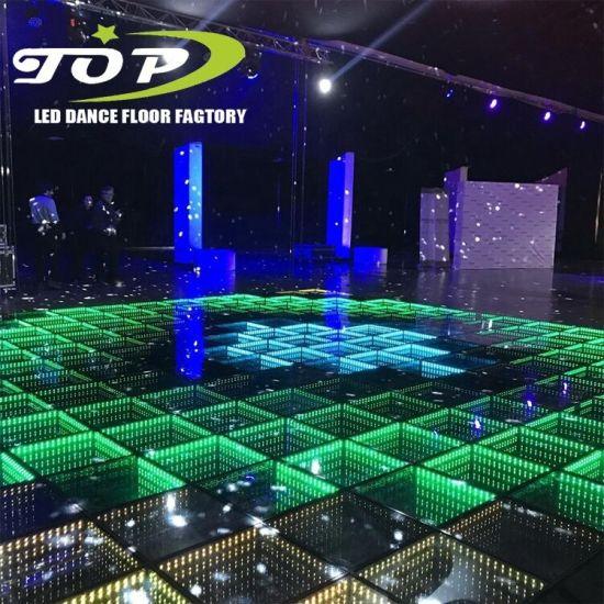 Hot Sale Tempered Glass 3D Dance Floor Pista De Baile