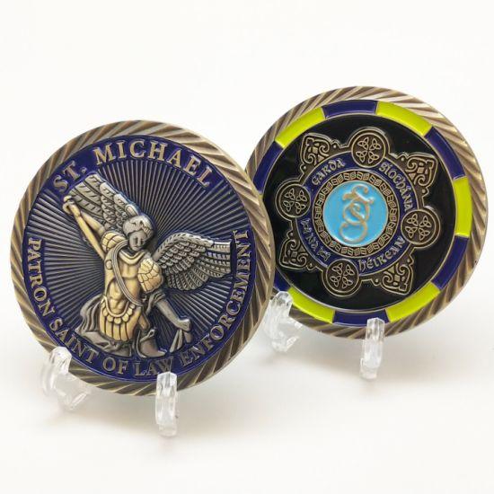 Custom Statue 3D Souvenir Challenge Coins Ireland Patron Saint Law Token Police Honor Award Coin