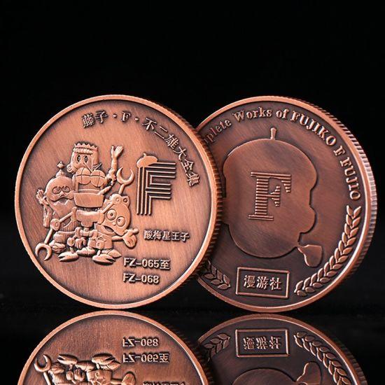 Wholesale Custom Logo Design Rose Colored Souvenir Coins Metal Crafts