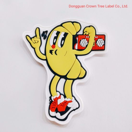 High Quality PVC Wovel Label for Cartoon Banana