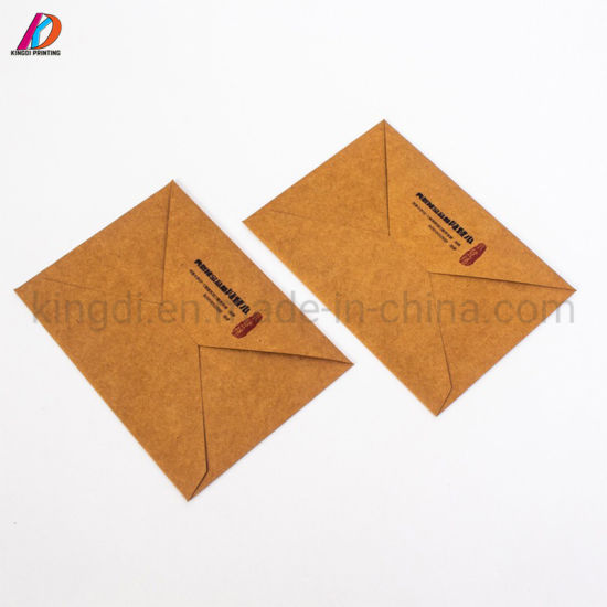 Custom Western Style Brown Kraft Paper Envelope For Invitation Card
