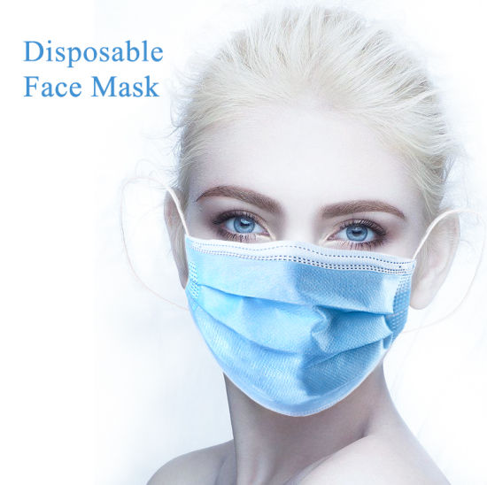 Virus Resist 3-Ply Nonwoven Disposable Face Mask