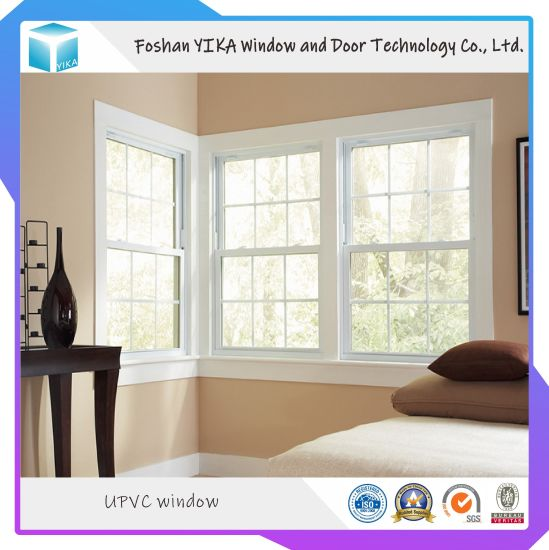 Corner Window Design UPVC/ PVC Double Hung Window Single Hung Window