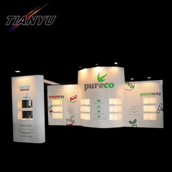 Tradeshow Exhibition Display Fabric Wall Pop up Banner Stand Display