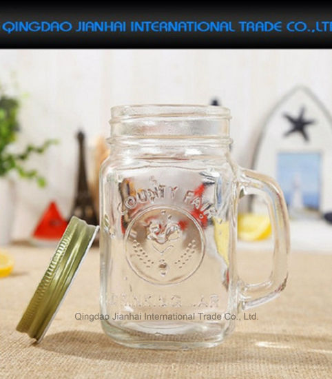 Vintage Transparent Glass Mason Jar for Salad & Fruit pictures & photos
