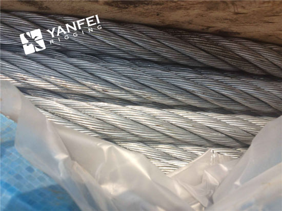 China 6*7+Iwrc Galvanized Steel Wire Rope for Elevator - China Rope ...
