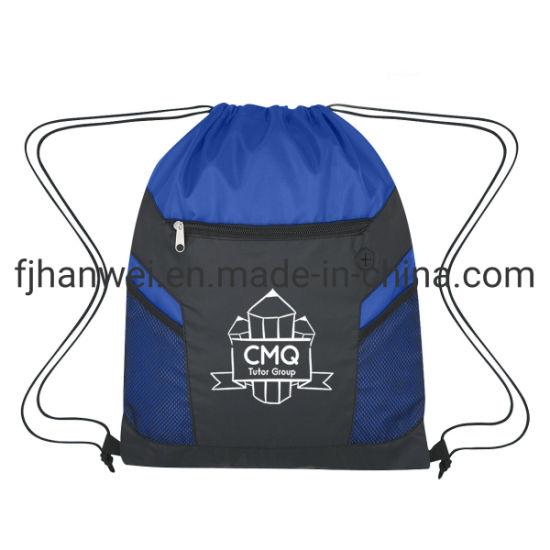 2020 Fashion Eco Friendly Polyester Promotional Drawstring Cord Bag