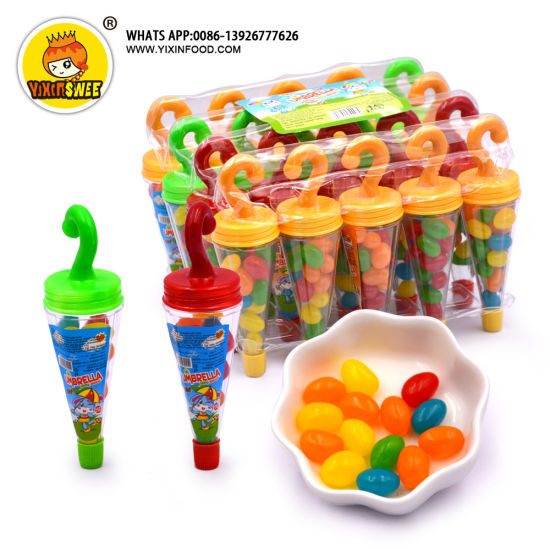 Umbrella Shaped Jelly Beans Chewy Fruit Candy