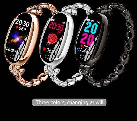 E68 Smart Watch Women 0.96 Inch Heart Rate Monitor IP67 Waterproof Sport Fitness Brecelet 14 Days Standby Health Wristband pictures & photos