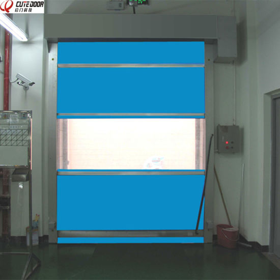 High Speed PVC Fabric Industrial Clean up Roller Shutter Door pictures & photos