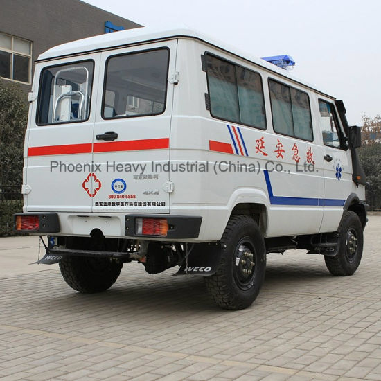 China LHD 4X4 Iveco Ambulance with Stretcher for Military