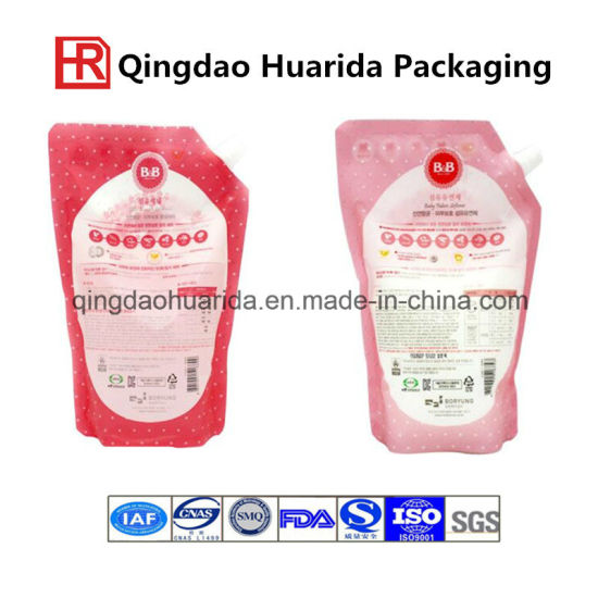 Juice Plastic Stand up Packaging Spout Bag pictures & photos
