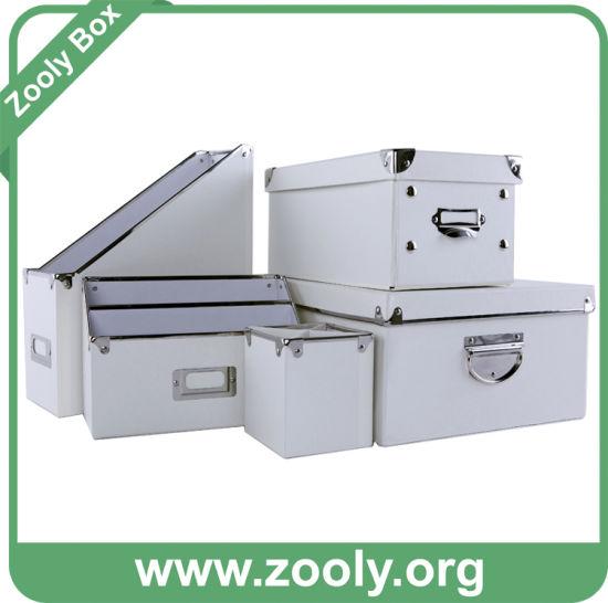 Clic White Office Storage Box Desktop Organizer