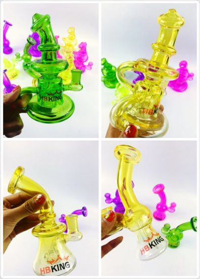 2017 Hbking New Model Borosilicate Smoking Pipe Colorful Glass Hookah pictures & photos