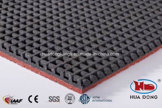 13mm Outdoor Indoor Iaaf Athletic Prefabricated EPDM Rubber Running Track pictures & photos