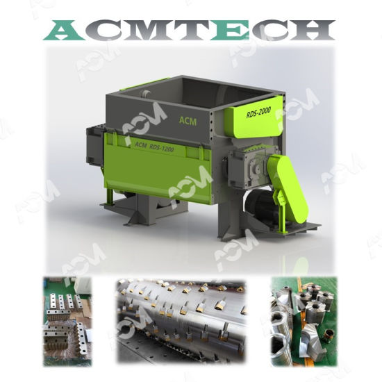 Single Shaft Double Shafts Waste Plastic Metal Wood Shredder Crusher for Lumps Bottles Pipes Recycling High Output Low Noise Grinder PP Boards