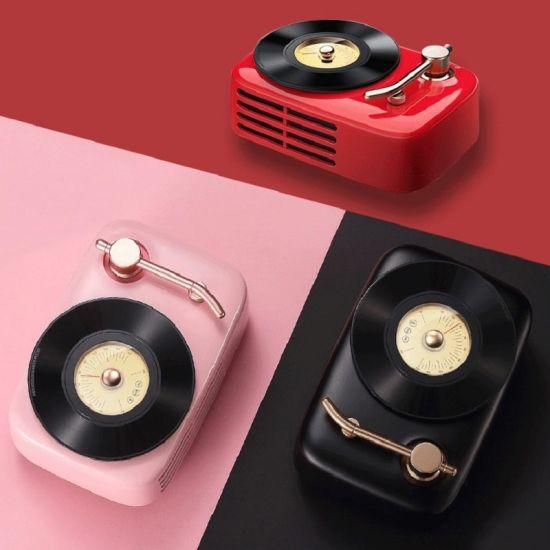 Wireless Portable Mini Bluetooth Vintage Retro Radio Speaker Box & FM Radio