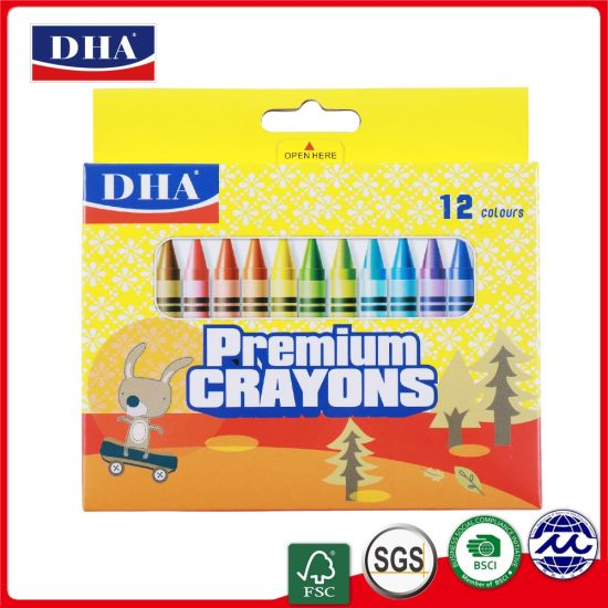 Hot Selling Non-Toxic Colorful Drawing 12 Colors Wax Crayons pictures & photos