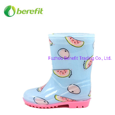 PVC Rainboots for Kids with Fruits Design pictures & photos