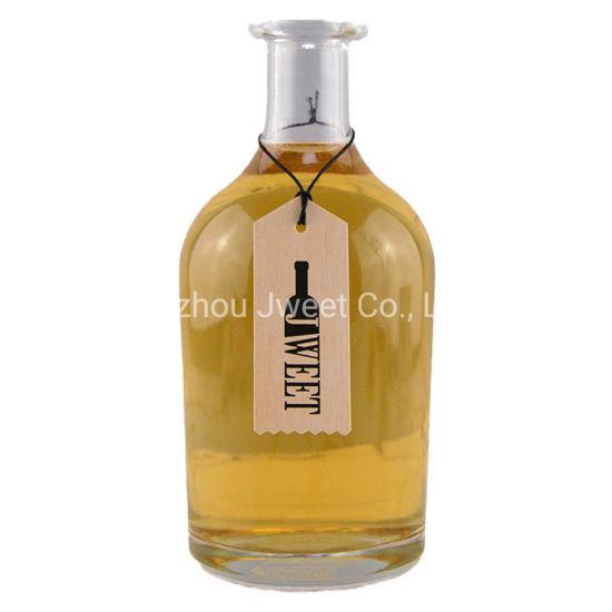750 Ml Round Liquor Glass Bottle Spirit