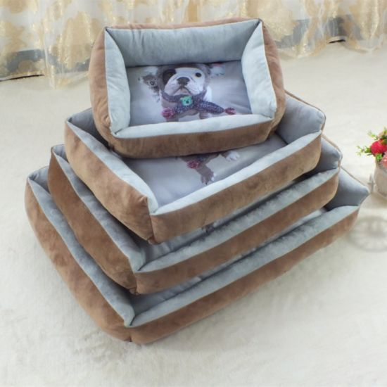 OEM/ODM Warm and Soft PP Cotton Filling Sofa Bed for Puppy Kitten