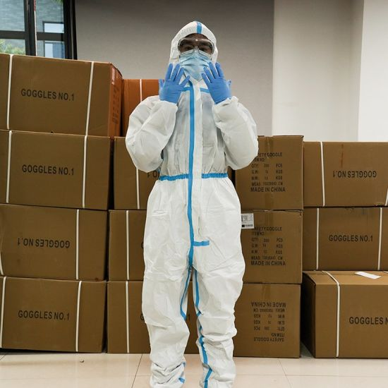 Coverall Disposable Isolation Suit Protective Clothing Dust-Proof Coveralls Antistatic