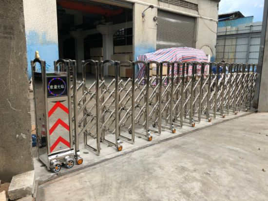 Automatic Retractable Gate with Remote Control for Construction Site