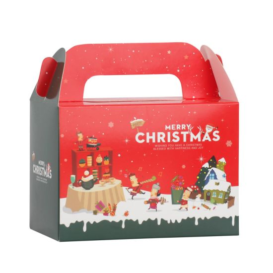 Art Paper Printing Paper Cake Packaging Box for Christmas