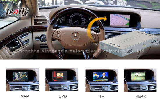 Car Video Interface for Mercedes-Benz S Class (W221) , Android Navigation Rear and 360 Panorama Optional pictures & photos