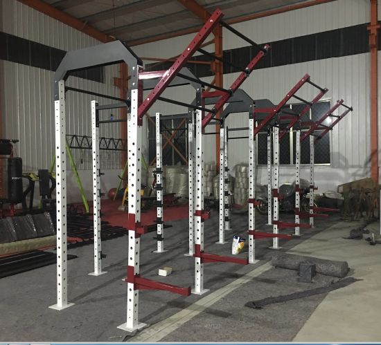 Hammer Strength Gym Equipment / Rig with Center Storage and Wings (SF1-7004) pictures & photos