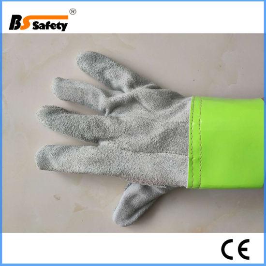 Best Price Short Leather Welding Gloves Work Safety Gloves