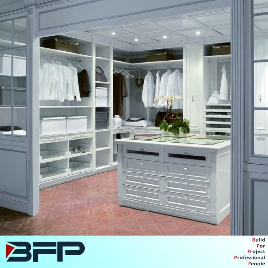 Classical Style Walk In Closet Cloakroom Storage Cabinet Wardrobe