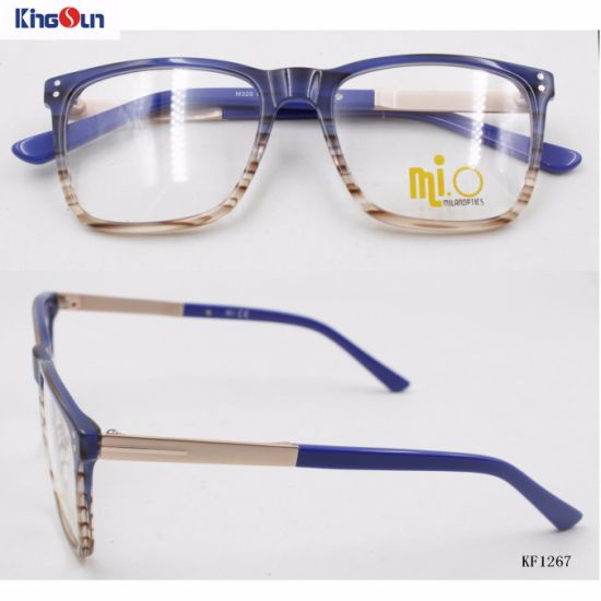 China High Quality Acetate Frames Metal Temple with Hinge (KF1267 ...