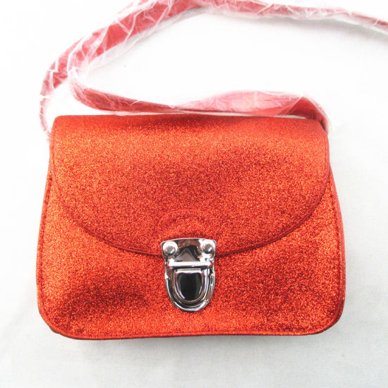 Fashion Kids Red Glitter PU Messenger Bag pictures & photos