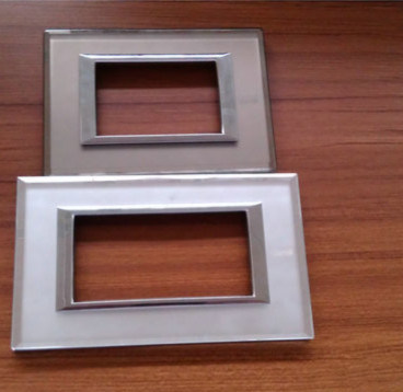 Beveled Glass and Mirror Coated Glass Switch Plates for Energy Saving
