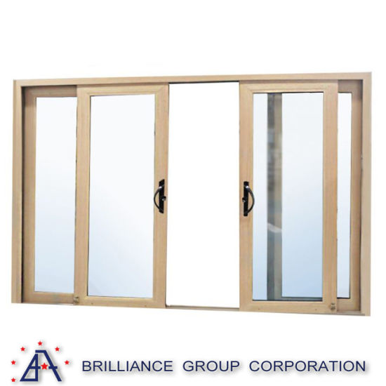 China Aluminium Frame European Sliding Glass Door With Mosquito