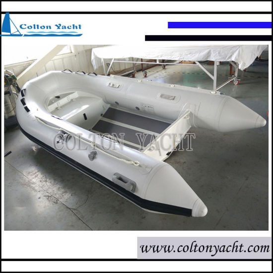 330cm Aluminum Rigid Inflatable Boat with Front Locker and Double Hull