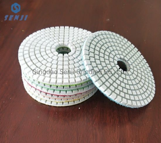 China Factory Wholesale Wet and Dry Use Flexible Diamond Polishing Pad Stone Tools for Natural and Engineerstone
