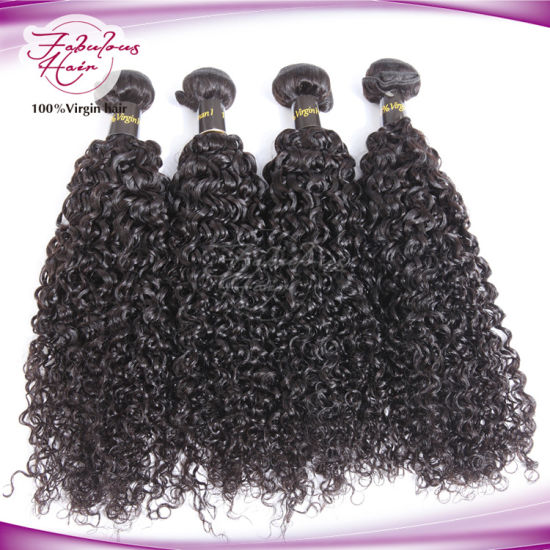 8A Brazilian Hair Bundles Curly Hair Weave pictures & photos