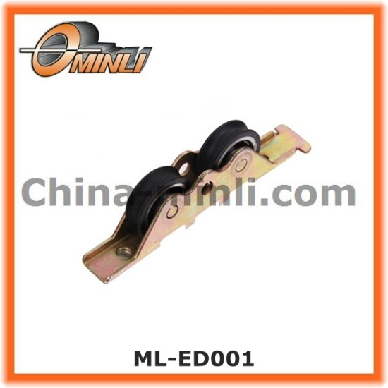 Punching Bracket Double Metal Pulley for Hot Sale (ML-ED007) pictures & photos