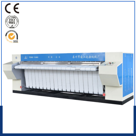 Easy Operate 1600mm- 3300mm Flatwork Ironer / Roll Ironing Machine 1-5 Rollers (steam, electric heat) Ce&ISO
