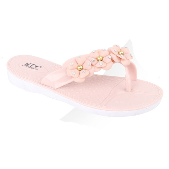 Lady Casual Flat Beach New Design Fashion Slippers